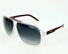 Carrera GrandPrix 2 T2OJJ White Black Red Grey Shaded Sunglasses Carrera. $116.34
