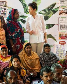 lovehgss1 lovehgss1  MEMBER  Dec 10, 2010  14,606 Posts Crown Princess Mary of Denmark is in Bangladesh on women's issues for her Mary Foundation.