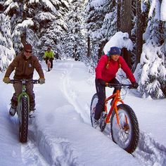 Fat Bikes fun in the snow, great traction.
