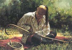 Lexique Canada Québec La Crosse : Sport amérindien tenant son nom de la raquette qu'ils utilisent pour envoyer une balle dans le but adversaire. La partie de crosse pouvait aussi bien servir à régler une dispute entre villages, à conjurer un mauvais sort, qu'à s'attirer les bonnes grâces des entités supérieures. William George Beers rédigea des règlements complets en 1867, année de la création du Dominion du Canada qui adopta la crosse comme sport national.