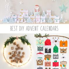 image of 3 DIY advent calendars Large Christmas Tree, Christmas Is Coming, Christmas Carol, Christmas Lights, Christmas Activities, Craft Activities, Diy Advent Calendar, Advent Calendars, Colored Envelopes