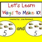 Introduce the ways to make 10 (addition) with my 13 page SmartBoard lesson.  The file includes a teacher's lesson plan, interactive pages, a video ...