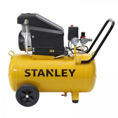 Stanley 50L Direct Drive Air Compressor, 2.5hp, 2 Year Warranty. The Stanley 2.5HP 50L Direct Drive Air Compressor is suitable for a range of jobs around the home including automotive applications and DIY projects and tools. It delivers a powerful 150 L/min free air delivery at 145PSI this Stanley air compressor will be a great asset to any handyman. Chainsaw Sharpener, Generators For Sale, Air Compressor, Power Tools, Outdoor Power Equipment, Delivery, Diy Projects, Range, Free