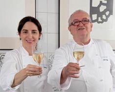 "Elena Arzak and his father famous chef Juan Mari Arzak . The magazine ""Restaurant"" says Elena is the best female Chef in the world.www.arzak.es"