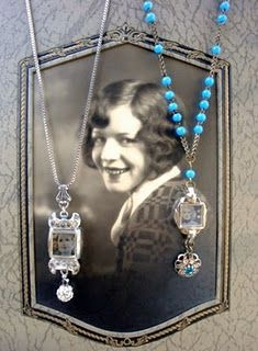 Necklaces from old watch parts
