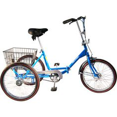 "20"" Worksman Trifecta Adult Folding Portotrike Tricycle $289. Free shipping in May for National Bike Month."