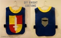 DIY Knight Costume made from colourful felt. Knight tunic is essential for every boys dressing up box.