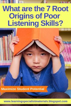 What are the 7 Root Origins of Poor Listening Skills? Listening Games, Active Listening, Listening Skills, Help Teaching, Teaching Reading, Reading Resources, Activities For Kids, Emotions Activities, Reading Activities