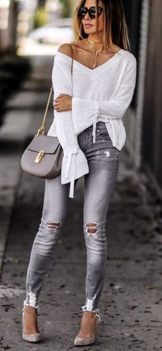 22 Everyday Outfit Trends For Ending Your Winter - Daily Fashion Outfits Trendy Fall Outfits, Stylish Outfits, Cool Outfits, Summer Outfits, Stylish Clothes, Latest Outfits, Cheap Clothes, Clothes Sale, Summer Clothes