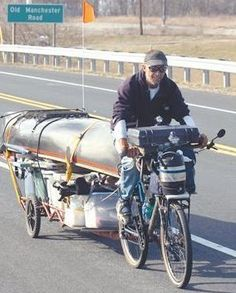 Great Example Of Hauling Capabilities SHTF Preppers: Packing list for long-distance touring bicyclist by James Schauer: 300 pounds of stuff. Canoe Camping, Motorcycle Camping, Camping Gear, Kayaks, Fat Bike, Pimp Your Bike, Bike Motor, Cargo Bike, Touring Bike