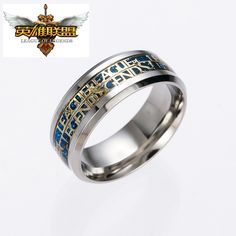 3 Style Silve Plated 316L Stainless Steel Women Accessories Hot Game Legend Of League LOL Ring Men Novelty Cartoon Rings Gifts