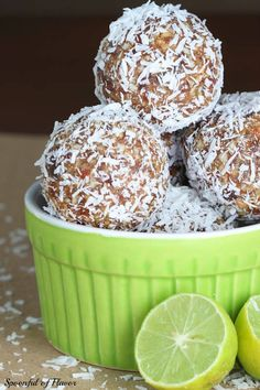 ☆ Key Lime Coconut Energy Bites Recipe ☆