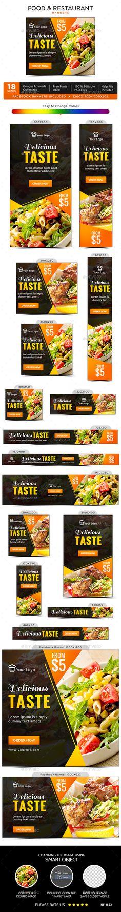 Food & Restaurant Banners Template PSD