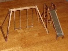 Swing set and slide