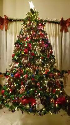 Christmas Tree Light Up, Red Christmas, Christmas And New Year, Xmas, Christmas Wishes Greetings, Christmas Phone Wallpaper, Christmas Photography, Christmas Decorations, Holiday Decor