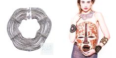 Collana EVA, dove colore e folklore africano si fondono con il design occidentale. Ideale per un outfit mix & match. http://goo.gl/L4vHbH Ordini e info anche whatapp 3240756644  #bluepointfirenze #jewelryestore