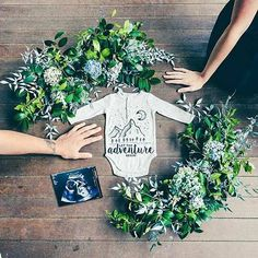 Image result for christmas card floral baby announcement