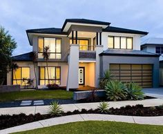 20 most popular modern dream house exterior design ideas 03 Related Design Exterior, Modern Exterior, Facade House, House Goals, Modern House Design, Modern Family House, Style At Home, Home Fashion, Future House