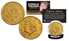 Need This!  2017 DONALD TRUMP OFFICIAL Inauguration 24K Gold Plated 12 GRAMS Tribute Coin