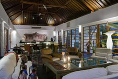 Bali Villa Photography - Villa Karishma - living and dining room dusk