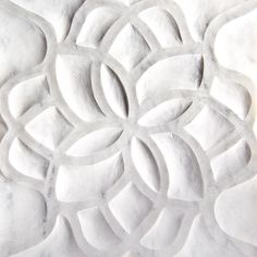 Artistic Tile | Ziva Collection | Lotus in Bianco Carrara Marble