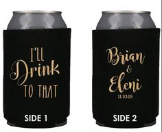 Details about Personalized Wedding Koozies I'll Drink to that Wedding Favors Can Coolers Wedding Can Coolers I'll Drink to That Wedding Favors Custom Engagement Party Favors Rehearsal Dinner Decor Engagement Party Favors, Creative Wedding Favors, Inexpensive Wedding Favors, Elegant Wedding Favors, Edible Wedding Favors, Candle Wedding Favors, Wedding Favors For Guests, Personalized Wedding Favors, Unique Weddings