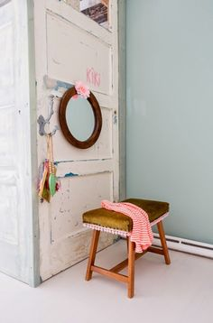 Whimsy and playful family home with Vintage furniture Home Interior, Interior Styling, Vintage Furniture, Painted Furniture, Home And Living, Home And Family, Family Homes, Blog Deco, Kids Decor