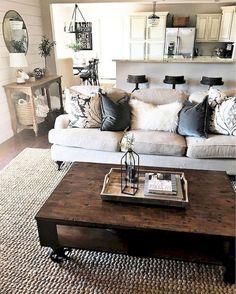 62 Modern Farmhouse Living Room Makeover Ideas