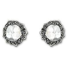 Swarovski // Poison Silvernight Pierced Earrings // Autumn Collection 2012 // $145