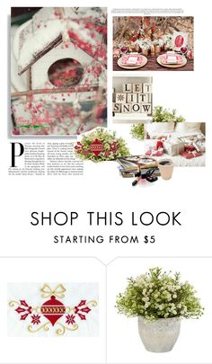 """Merry Christmas"" by smile-2528 ❤ liked on Polyvore featuring Nearly Natural and Chanel"