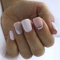 130 glitter gel nail designs for short nails for spring 2019 page 20 . - 130 glitter gel nail designs for short nails for spring 2019 page 20 – … – - Glitter Gel Nails, Shellac Nails, Cute Acrylic Nails, Cute Nails, My Nails, Pretty Gel Nails, Gel Manicures, Prom Nails, Gold Glitter
