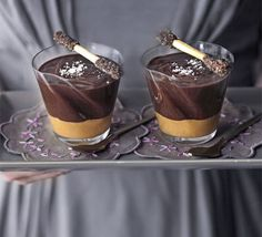 Combining sweet and salty flavours really works when chocolate and toffee is involved - best served in individual portions