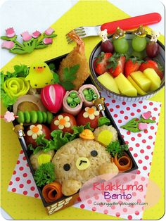 Rilakkuma Bento by Cooking-Gallery, via Flickr