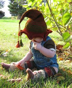 Ravelry: Baby Witch and Elf Hat pattern pattern by Adina Higdon Knitting For Kids, Baby Knitting, Crochet Baby, Knit Crochet, Gypsy Crochet, Knitting Wool, Crochet For Kids, Free Crochet, Halloween Knitting Patterns