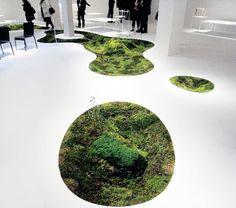 azuma makoto: 'time of moss' for tokyo fiber senseware at milan design week 09 Green Architecture, Architecture Design, Azuma Makoto, Landscape Design, Garden Design, Instalation Art, Fleur Design, Flower Artists, Flower Installation