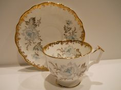 AYNSLEY TEACUP and SAUCER ~Bone China-England~ Beautiful Set | eBay