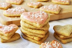 Neat Sugar Cookies with Strawberry Icing Recipe - Vegan cookies, made with the neat egg