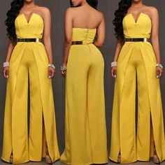Pin by Quiana Rollins on fb styles in 2019 Classy Outfits For Women, Trendy Outfits, Clothes For Women, Fashion Wear, Fashion Pants, Fashion Outfits, African Fashion Dresses, African Dress, African Traditional Dresses