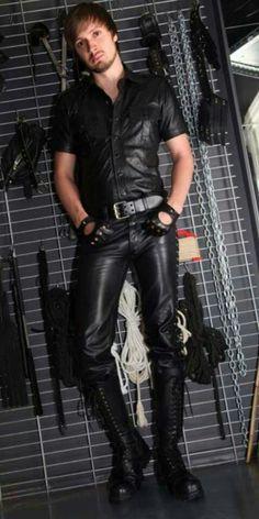 Men leather Sexy