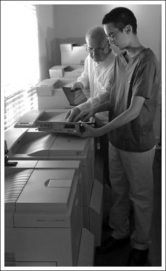 Route map printers being installed. A bank of 6 can print 10,000 pages per hour.