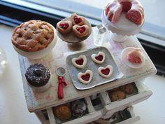 Dollhouse miniature bakery dresser by Kimsminibakery on Etsy