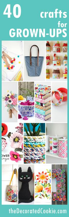 A roundup of 40 awesome crafts for adults