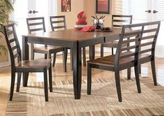 Alonzo Rectangular Table w/ 4 Chairs & Bench,Signature Design by Ashley