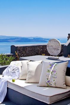 There's nothing but blue sky between you and the Aegean Sea on the Master Suite's Balcony. San Antonio (Santorini, Greece) - Jetsetter