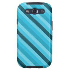 Cute blue striped samsung galaxy s3 case.