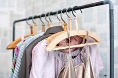 Pipe cloth rack from our book Sormustin ja sorkkarauta