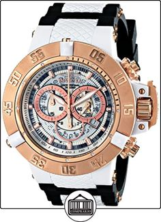 Invicta 0931 - Reloj para hombre color blanco / negro de  ✿ Relojes para hombre - (Gama media/alta) ✿