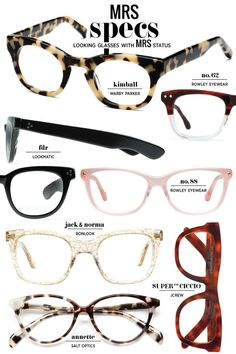 Fall 2014 Eyewear Collection / via Mrs. Lilien