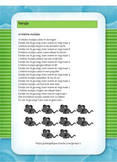 Versje: 10 kleine muisjes Bullet Journal, Letters, Kids, Seeds, Children, Boys, Letter, Babies, Kids Part