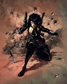 X-Men: Domino (Neena Thurman) Comic Book Heroines, Comic Book Characters, Comic Books Art, Comic Art, Book Art, Domino Marvel, Marvel Art, Marvel Xmen, Marvel Universe